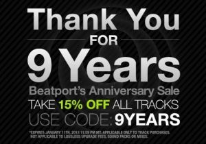 Beatport 15% Promotion